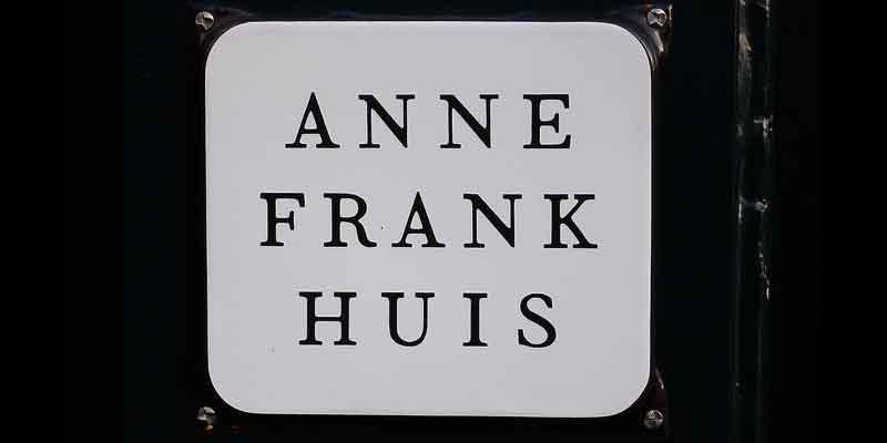 Het Anne Frank huis aan de Prinsengracht in Amsterdam