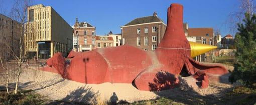 Aardvarken in het Bartokpark in Arnhem