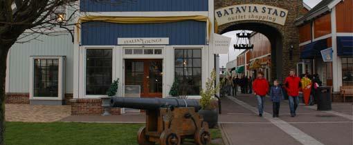 Voordelig Outlet shoppen Bataviastad