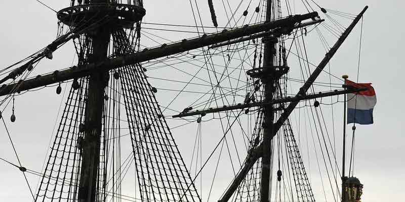 V.O.C. schip 'De Batavia' in Lelystad