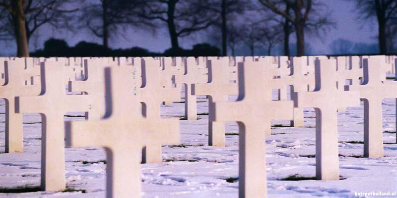 De Amerikaanse begraafplaats in Margraten, Zuid Limburg