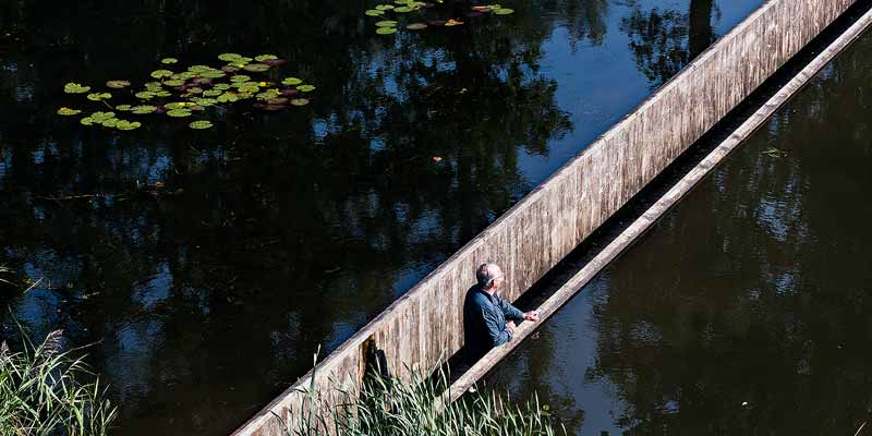 De onzichtbare Loopgraafbrug of Mozesbrug, Halsteren, Noord-Brabant