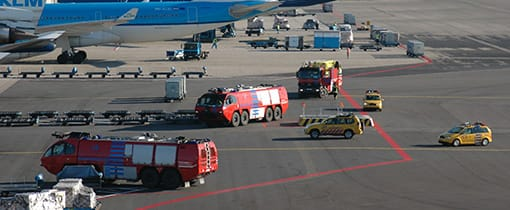 Fire drill at Schiphol airport