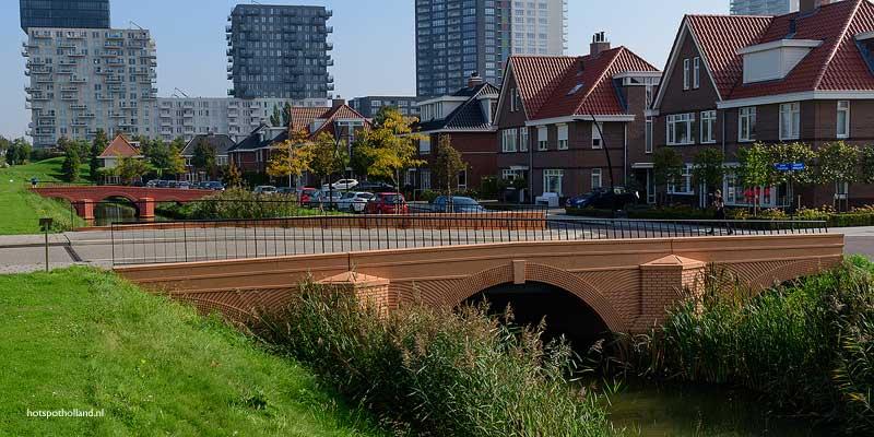 De bruggen van de Euro bankbiljetten in Spijkenisse