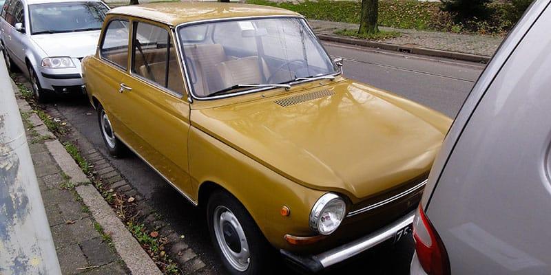 Een DAF personenwagen, een enkele keer zie je nog een exemplaar rondrijden