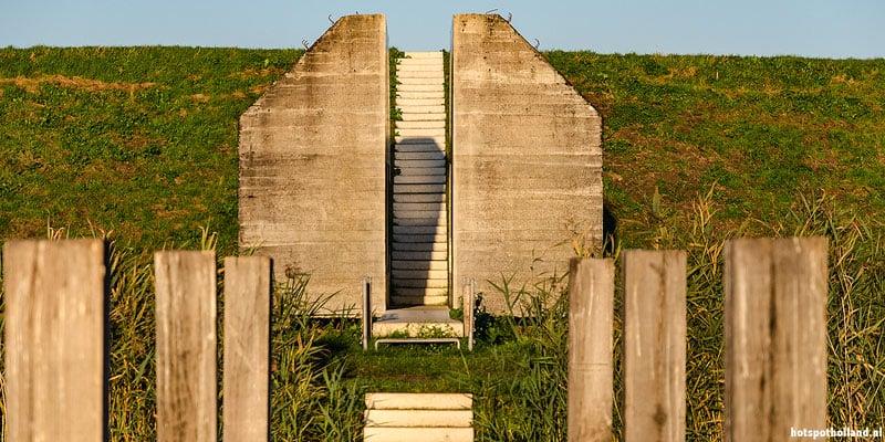 De doorgezaagde bunker bij Culemborg