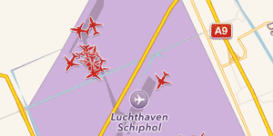 Planes parked at  Schiphol Airport