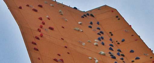 De Klimbanaan, de spectaculaire Excalibur klimwand op Kardinge Sportpark in Groningen