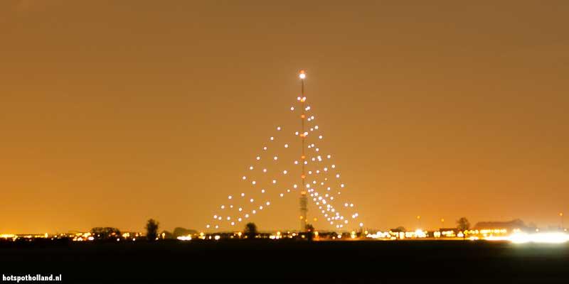De grootste kerstboom van Nederland in IJsselstein