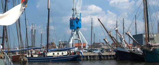 Overnachten in een havenkraan met uitzicht over de Waddenzee. Het kan in Harlingen