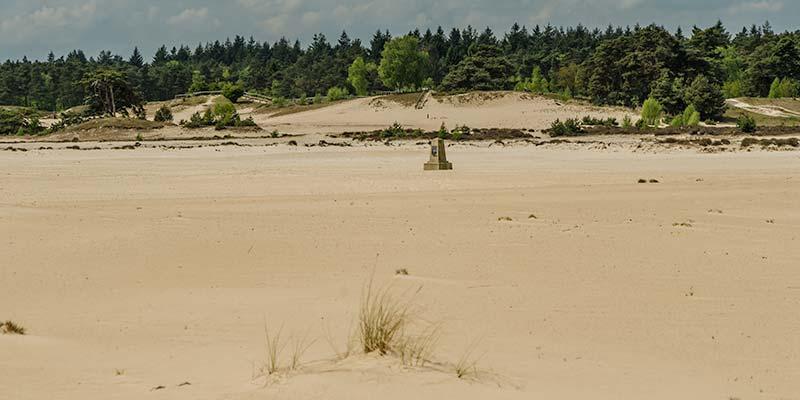 De enorme zandvlakte van het Hulshorsterzand