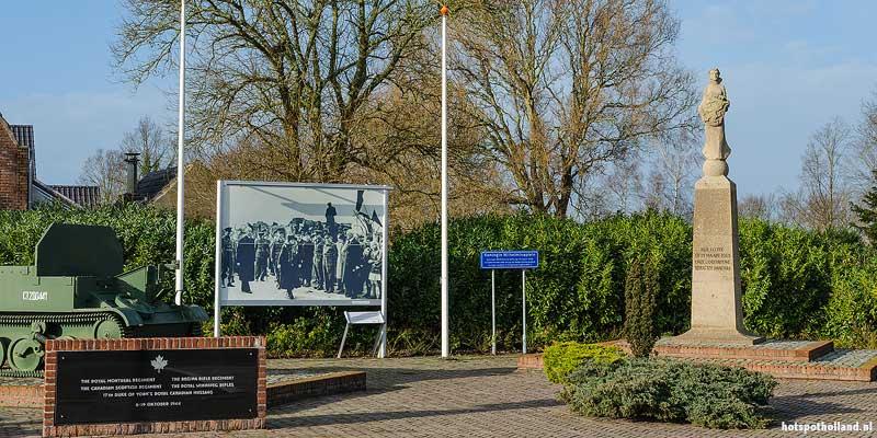 Het monument in Eede aan het Wilhelminapleintje