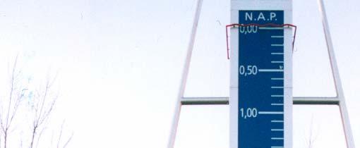 Het laagste punt van Nederland in Nieuwerkerk aan den IJssel. De voet van het monument komt exact overeen met het niveau van het laagste punt