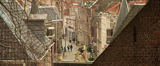 Uitzicht vanaf De Burcht in Leiden