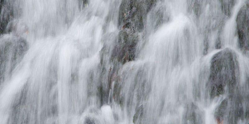 Het sprankelende water van de Vrijenbergerspreng in de bossen van de Veluwe, de hooste waterval van ons land