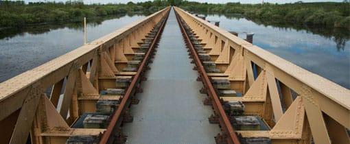 De Moerputtenbrug bij Den Bosch, onderdeel van de voormalige Halve Zolenlijn