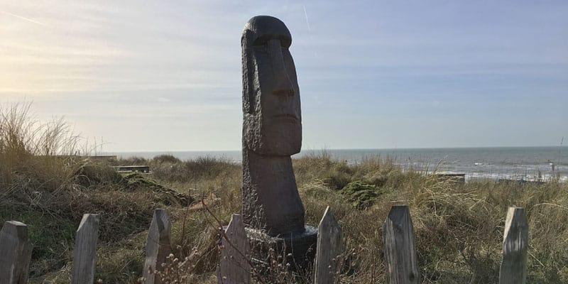 Moai Paaseilandbeeld Zandvoort