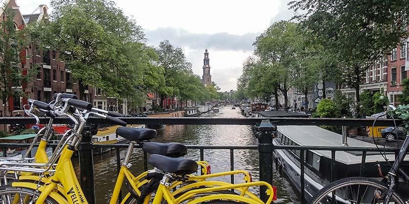 De Prinsengracht in de Jordaan in Amsterdam