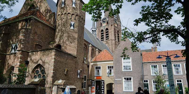 Het Prinsenhof in het historische centrum van Delft