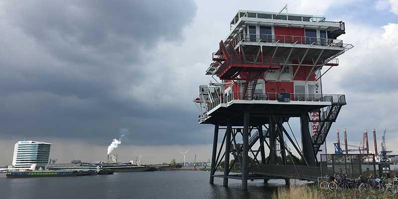 Het REM-Eiland in de Amsterdamse Houthavens