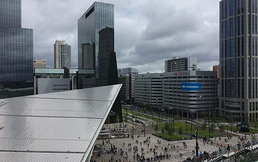 The square in front of the Rotterdam Central Train Station