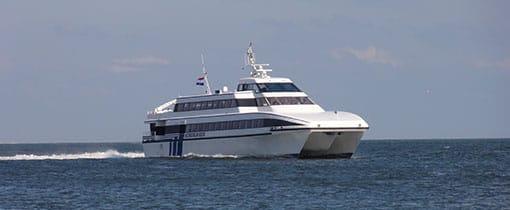 Snelboot Koegelwieck onderweg naar Vlieland