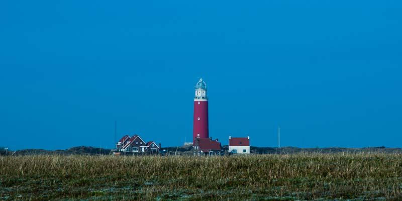 De vuurtoren op het noordelijkste puntje van Texel. Hier heb je het mooiste uitzicht over het eiland en de Wadden