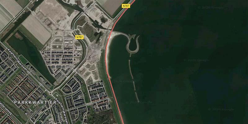 Tulpeiland Zeewolde. Foto: google Maps
