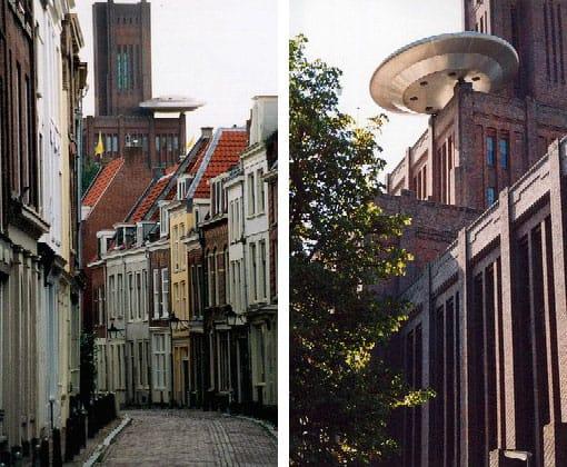 Utrecht binnenstad UFO
