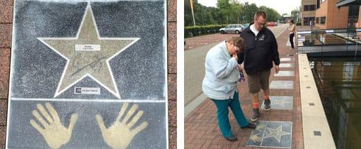 Walk of Fame op het Mediapark Hilversum