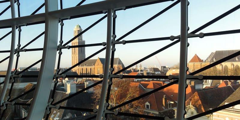 Zwolle. Gezien vanuit Museum De Fundatie